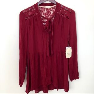 Altar'd State NWT Maroon Lace Dress (size S)